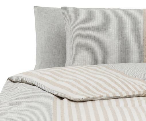 Parure copripiumino Unico, Grigio, beige, crema, 250 x 260 cm