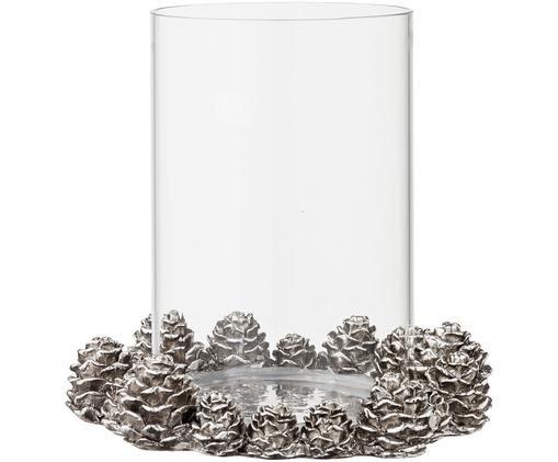 Świecznik Serafina, Odcienie srebrnego, Ø 16 x W 16 cm