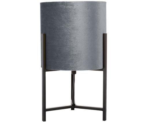 Lampa stołowa Piper, Klosz: szary podstawa lampy: czarny, matowy, Ø 22 x W 38 cm