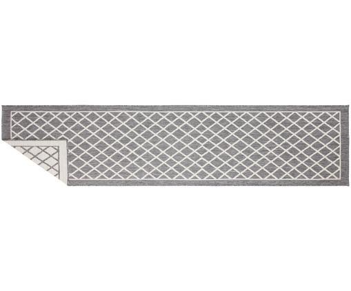 Alfombra de interior/exterior Sydney, caras distintas, Gris, crema, An 80 x L 350 cm