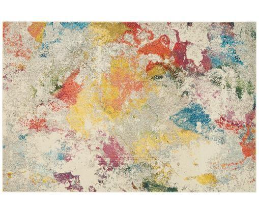 Tappeto di design colorato Celestial, Vello: polipropilene, Retro: iuta, Multicolore, P 160 x L 220 cm