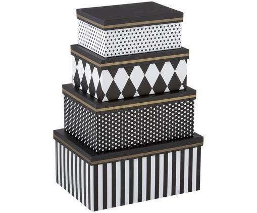 Ensemble de coffrets cadeaux Favorite, 4élém., Blanc, noir, couleur dorée