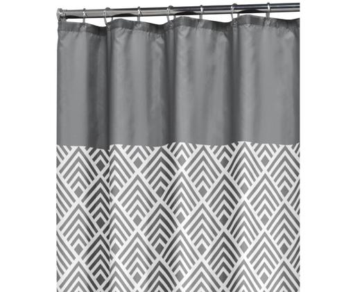Zasłona prysznicowa Allie, Szary, biały, S 180 x D 200 cm