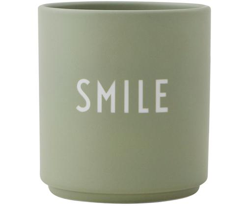 Tazza Favourite, Porcellana Fine Bone China smaltata, Verde, bianco, Ø 8 x A 9 cm