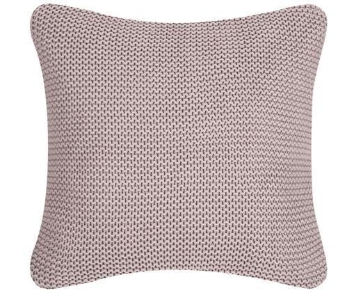 Poszewka na poduszkę z dzianiny Adalyn, 100% bawełna, Brudny różowy, S 40 x D 40 cm
