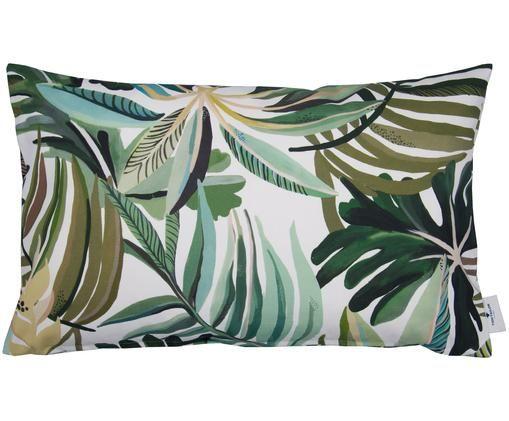 Poszewka na poduszkę Fantasy Jungle, Odcienie zielonego, złamana biel