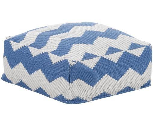 Cuscino da pavimento   per interni ed esterni Bora, Blu, beige