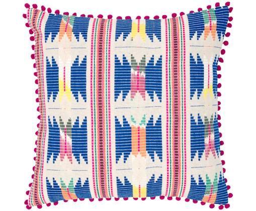 Poszewka na poduszkę Maria, 60% akryl, 40% bawełna, Przód: wielobarwny Tył: beżowy, S 45 x D 45 cm