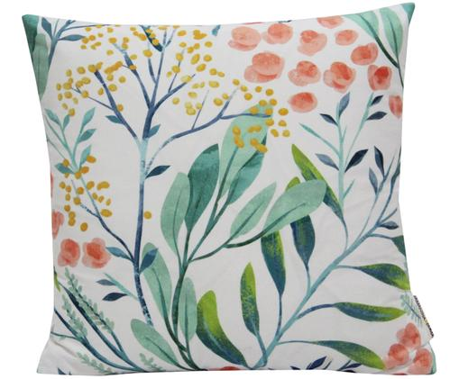 Housse de coussin imprimé floral Meadow, Blanc, multicolore