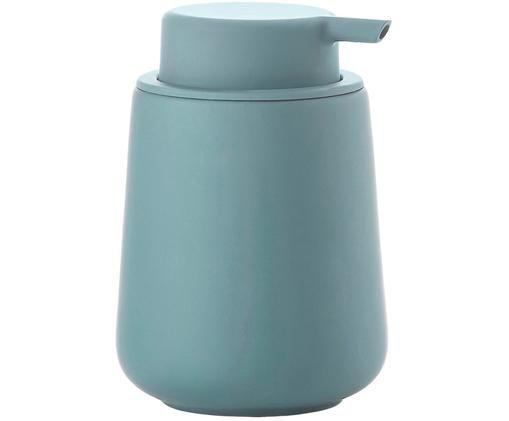 Porzellan-Seifenspender Nova One, Behälter: Steingut überzogen mit So, Blau, Ø 10 x H 14 cm