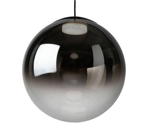 Lampada a sospensione in vetro a specchio Relax, Paralume: vetro, Cromo trasparente, Ø 40 x Alt. 40 cm