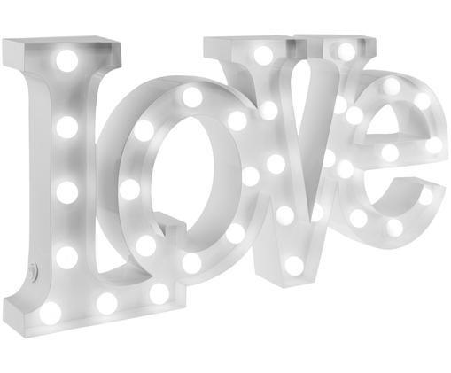 Décoration lumineuse à LED Love, Blanc