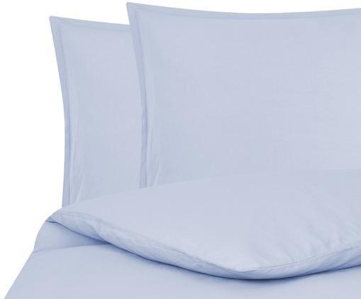 Pościel z lnu Breezy, 52% len, 48% bawełna Z efektem stonewash zapewniającym miękkość w dotyku, Jasny niebieski, 200 x 200 cm