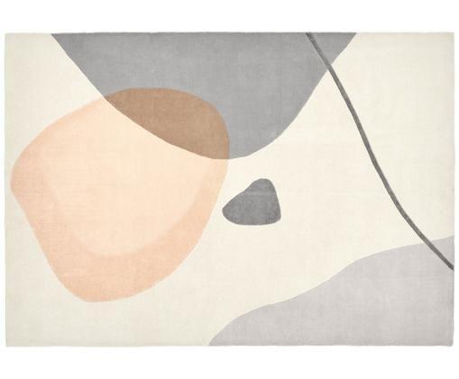 Tappeto in lana taftato a mano Luke, Vello: lana, Retro: cotone, Beige, grigio, albicocca, Larg.160 x Lung. 230 cm  (taglia M)