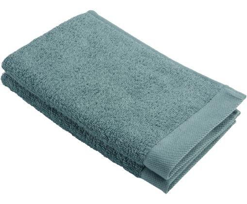 Handtuch Blend aus recyceltem Baumwoll-Mix, Grün, Gästehandtuch