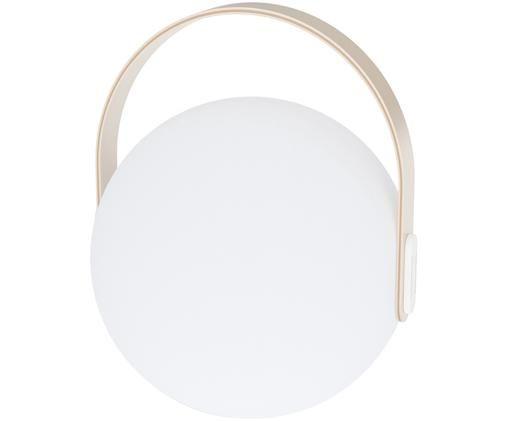 Zewnętrzna mobilna lampa LED Eye, Biały, jasny brązowy, Ø 24 x W 28 cm