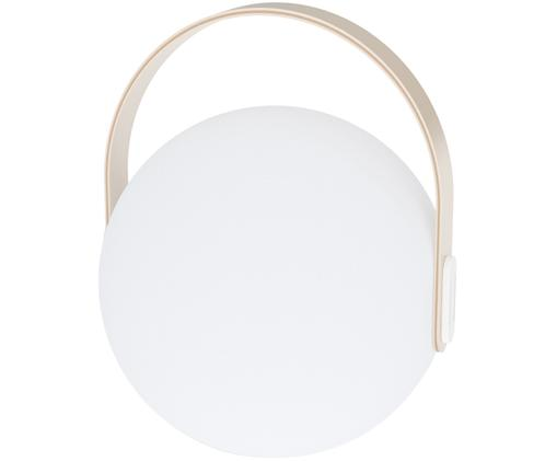 Mobiele outdoor LED lamp Eye, Lampenkap: kunststof, Wit, lichtbruin, Ø 24 x H 28 cm