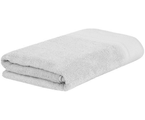 Asciugamano con bordo decorativo Premium, Grigio chiaro, Telo bagno