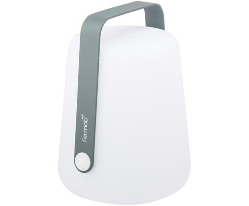 Lampada portatile a LED da esterno Balad, Paralume: polietilene altamente tra, Manico: alluminio verniciato, Grigio tempesta, Ø 19 x Alt. 25 cm