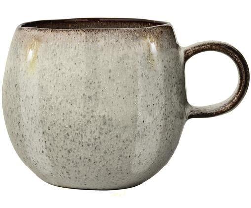 Handgemachte Tasse Sandrine, Keramik, Hellgrau, Ø 10 x H 10 cm