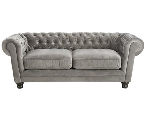 Chesterfield Samt-Sofa Sally (3-Sitzer)
