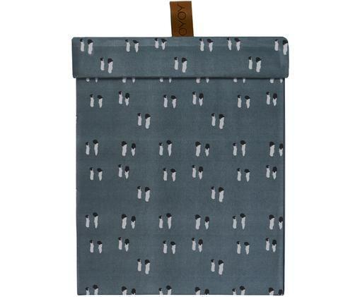 Caja Inka, Cartón, Azul petróleo, negro, gris, An 17 x Al 21 cm
