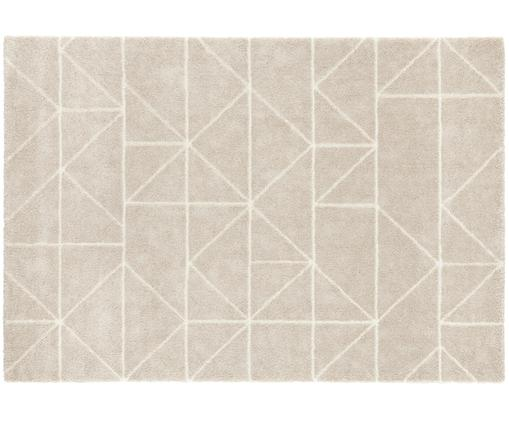 Teppich Arles in Beige-Creme, mit grafischem Muster, Flor: 85% Polypropylen, 15% Pol, Beige, Creme, B 160 x L 230 cm (Größe M)