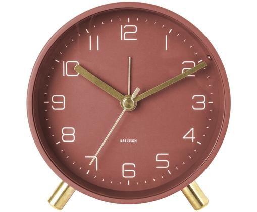 Wecker Lofty, Metall, lackiert, Rot, Ø 11 x T 5 cm