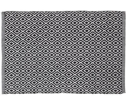 Dywanik   łazienkowy  Erin, Bawełna, Czarny, biały, S 60 x D 90 cm