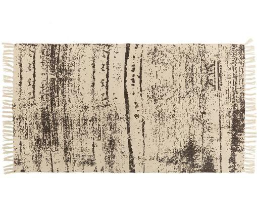 Tappeto Aaron, Cotone, Crema, nero, Larg. 90 x Lung. 150 cm (taglia XS)