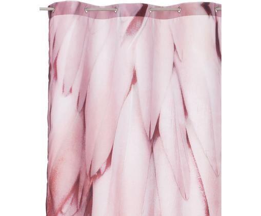Zasłona prysznicowa Feathers, Odcienie różowego, S 150 x D 200 cm