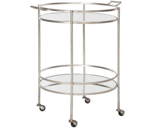 Desserte en métal Harper, Structure: métal Plateau: verre, surface réfléchissante