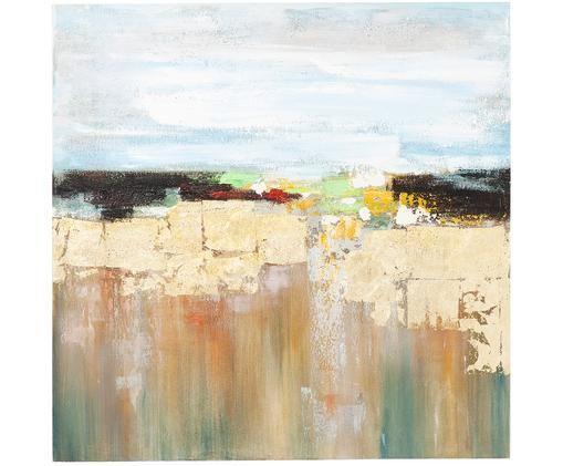 Handgemaltes Wandbild Abstract Landscape, Mehrfarbig
