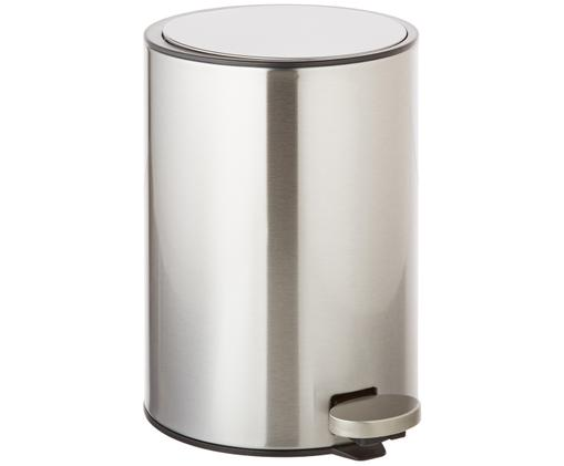 Kosz na śmieci  z funkcją pedału Tenes, Srebrny, Ø 19 x W 26 cm