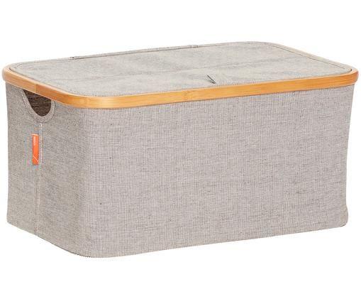 Caja Janega, Tapizado: 65% poliéster, 35%algodó, Estructura: bambú, Gris, bambú, An 45 x Al 22 cm