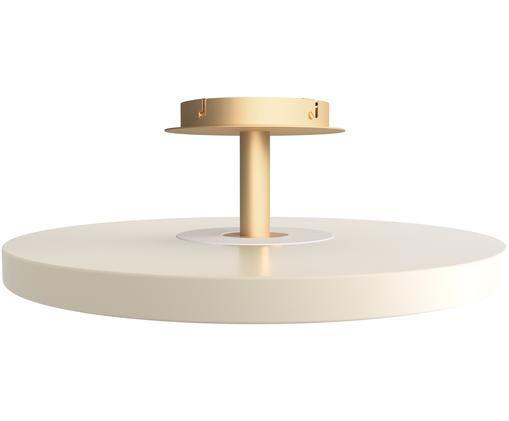 LED Deckenleuchte Asteria, Lampenschirm: Aluminium, lackiert, Cremeweiß, Goldfarben, Ø 60 x H 21 cm