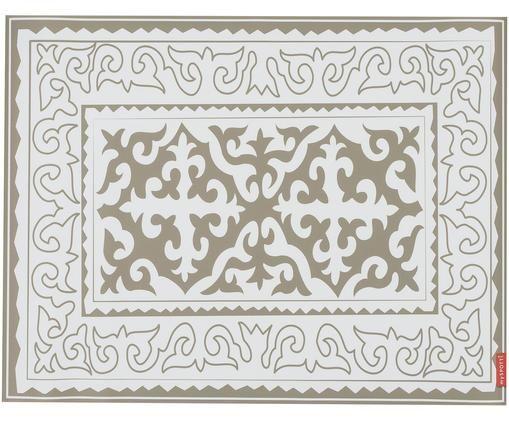 Tappetino in vinile Aksana, Vinile, Bianco, taupe, Larg. 65 x Lung. 85 cm