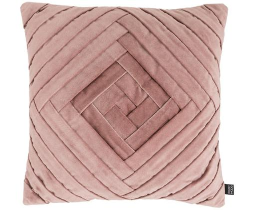 Poduszka z aksamitu z wypełnieniem Marisa, Tapicerka: bawełna, Fioletoworóżowy, D 45 x S 45 cm