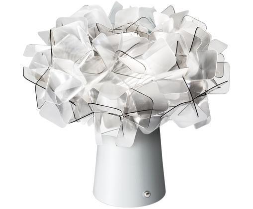 Lampada da tavolo a LED Clizia, Paralume: tecnopolimero Lentiflex®,, Base della lampada: acciaio, rivestito, Trasparente, grigio chiaro, Ø 27 x A 25 cm