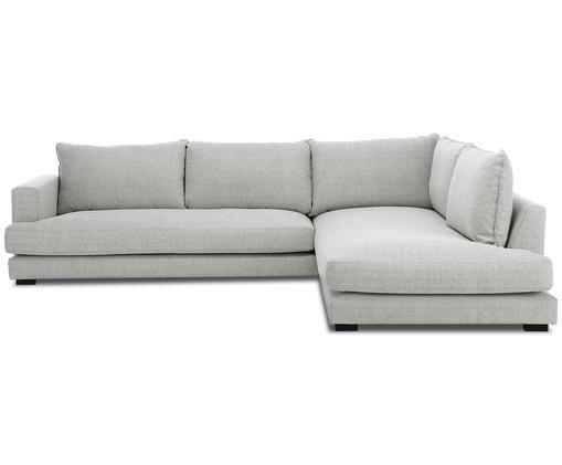 Canapé d'angle Tribeca, Revêtement: gris Pieds: noir