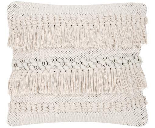 Poszewka na poduszkę Kele, 100% bawełna, Ecru, czarny, S 40 x D 40 cm