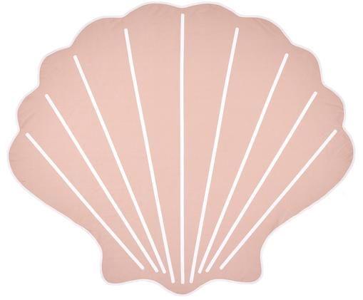 Ręcznik plażowy Shelly, 55% poliester, 45% bawełna Bardzo niska gramatura 340 g/m², Blady różowy, biały, S 150 x D 130 cm
