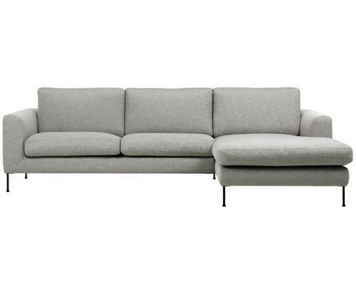 Canapé d'angle Cucita (3places), Gris clair