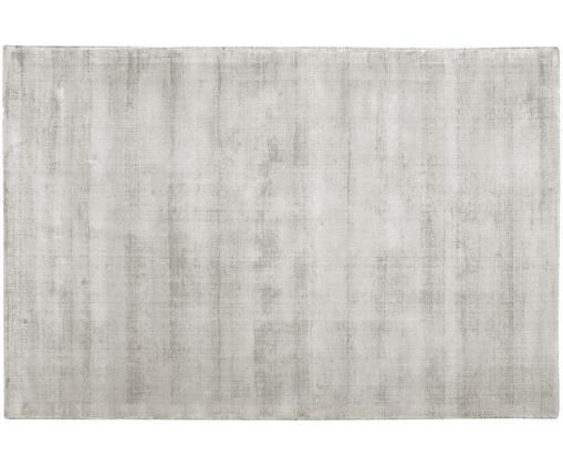 Tappeto in viscosa tessuto a mano Jane, Vello: 100% viscosa, Retro: 100% cotone, Grigio chiaro-beige, Larg. 200 x Lung. 300 cm