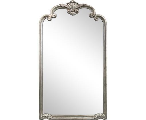 Specchio pendente Palazzo, Cornice: resina sintetica, Superficie dello specchio: lastra di vetro, Argentato, Larg. 104 x Alt. 184 cm