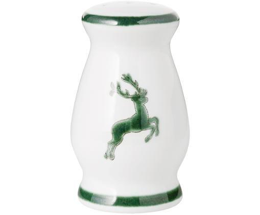 Pfefferstreuer Gourmet Grüner Hirsch, Keramik, Grün,Weiß, 4 x 6 cm