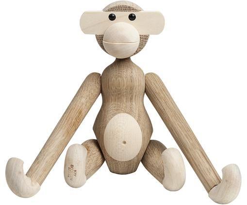 Designer-Deko-Objekt Monkey, Eichenholz, Eichenholz, Ahornholz
