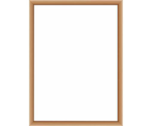 Bilderrahmen Accent, Rahmen: Aluminium, beschichtet, Front: Glas, Rückseite: Mitteldichte Holzfaserpla, Kupferfarben, 13 x 18 cm