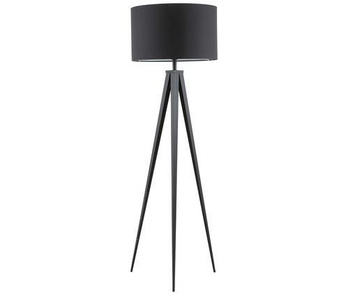 Stehlampe Jake, Lampenschirm: Textil, Lampenschirm: SchwarzLampenfuss: Mattschwarz, ? 50 x H 158 cm
