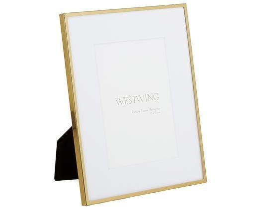 Cornice Memento, Cornice: ferro, lucido verniciato, Retro: pannelli di fibra a media, Dorato, 13 x 18 cm